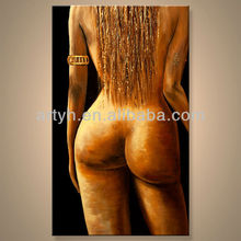 China Factory Newest Popular Black Nude Girl Acrylic Canvas Oil Painting For Decoration Home