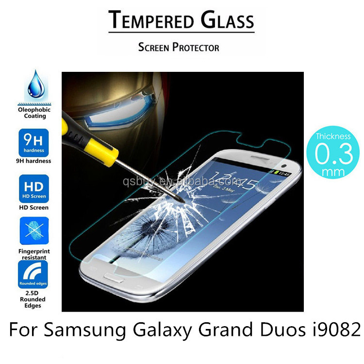 9H Tempered Glass Screen Protector For Samsung Galaxy Grand Duos i9082 Tempered Glass Screen Film