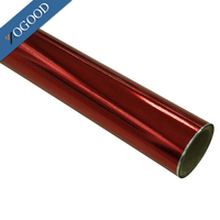 custom made pet/pvc high degree transfer film for textiel,color red hot stamping foil