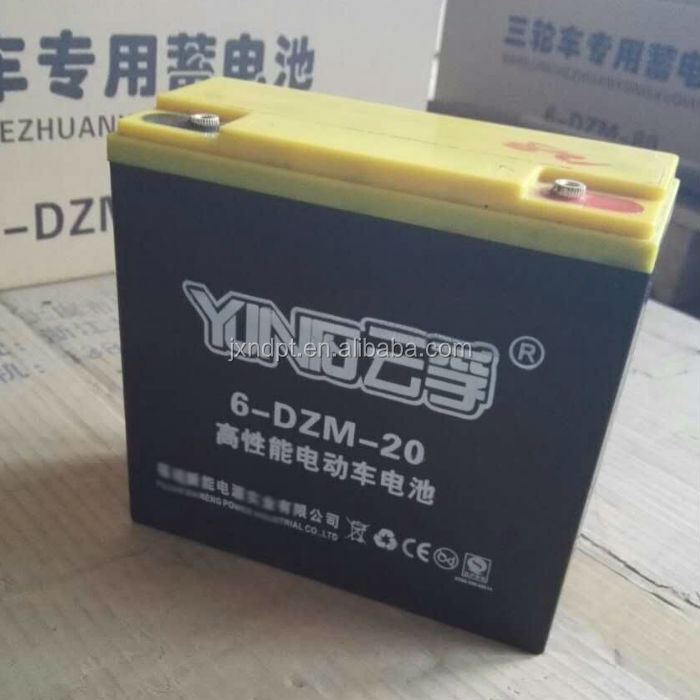 12v 24ah 6-dzm-24 vrla agm electric bike battery