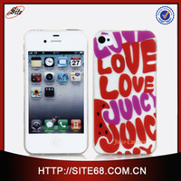 New Arrival Plain Color Print Cell Phone Case for Iphone 4 with Factory Price