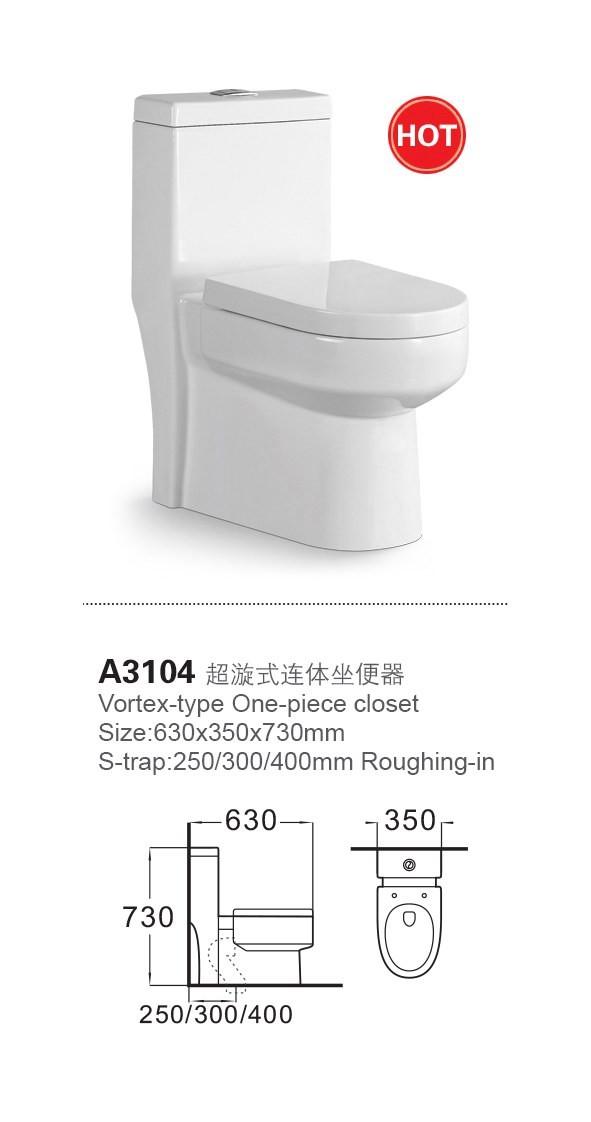 a3104 big size ceramic toilet one piece toilet pan sizes buy toilet pan sizes one piece toilet. Black Bedroom Furniture Sets. Home Design Ideas