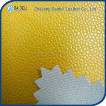 yellow color embossed design pvc leather for bags and sofa