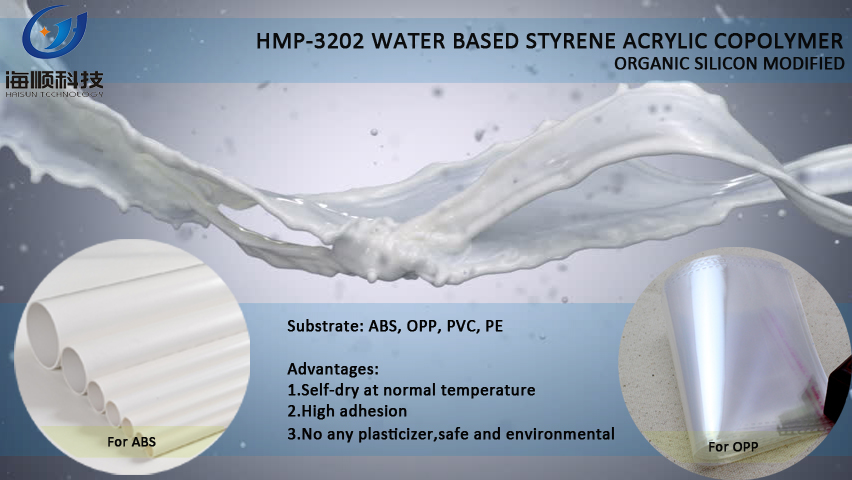 Silicone modified styrene acrylic emulsion for plastic coating HMP-3202