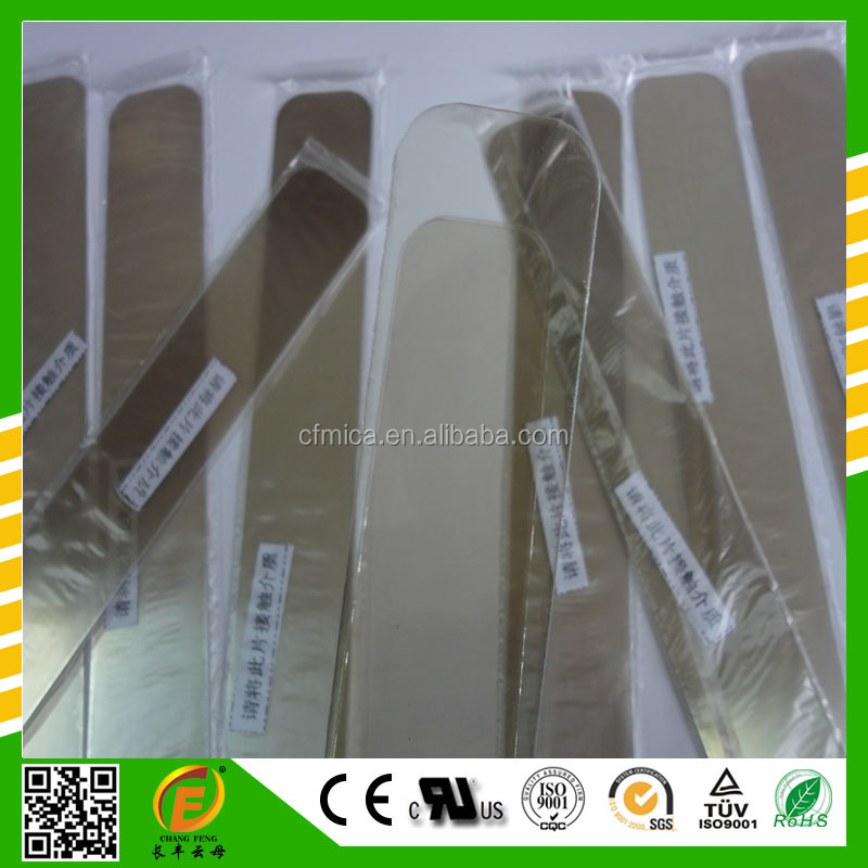transparent mica glass sheet from China supplier