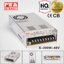 Factory outlet single output power switching 300w 48v 6.25a ac to dc switch mode power supply S-300-48