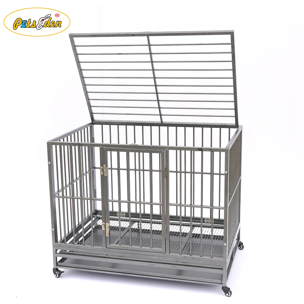 Cheap top selling welded pet dog cage animals crates simple structure kennel