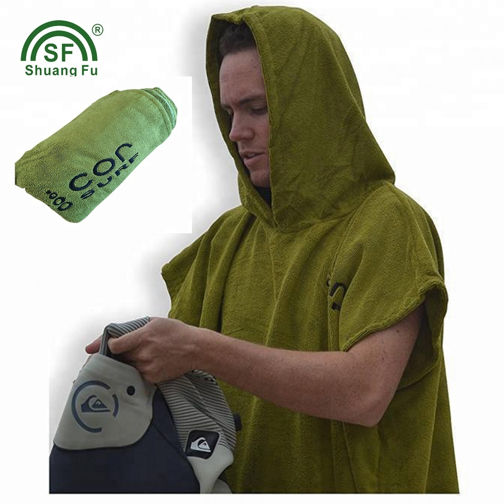 100% Cotton <strong>Towel</strong> Surf Poncho Adult Hooded Beach <strong>Towel</strong> for Surfers