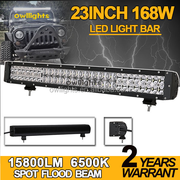 2017 Owllights 20 inch 168W IP68 4WD LED Light Bar for Car Offroad Double Row 5D Lens Driving Light Bar 4WD