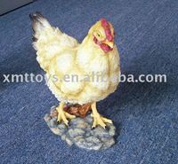 2016 resin farm animal hen figurine for garden decor