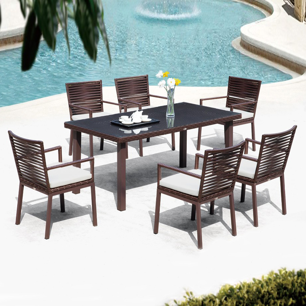 Foshan Factory Dining Table and Chair Cane Dining Set Restaurant Furniture