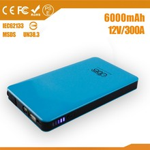 12V 6000mah portable AUTO car lithium battery booster Jump Starter power bank