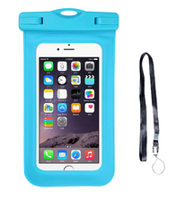 High quality universal waterproof pvc mobile phone case for 6 inches, waterproof bag for cellphone with lanyard
