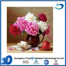 Stock beautiful flower high resolution 3d lenticular picture card printing