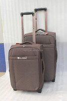 wholesale factory price pu/leather luggage/luggage trolley import from china