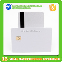 PVC fm4442 chip/ magnetic stripe with 2 track magnetic stripe