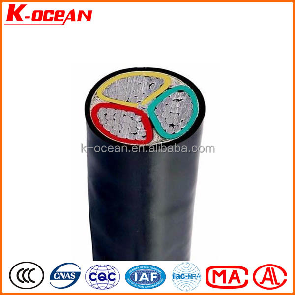 Factory Price Low Voltage 3Core 25mm2 XLPE Insulated PVC Sheathed Aluminum Cable