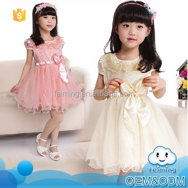 2016 summer children boutique clothing short sleeve princess soft light pictures little girls party birthday tutu dress for kids