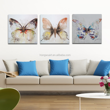 Modern Butterfly Canvas Oil Painting Arts Simple