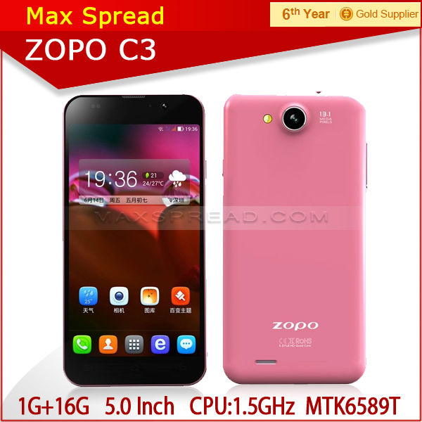 Factory Price MT6589T ZOPO C3 Smartphone 1.5GHZ Quad Core android active dual sim phone