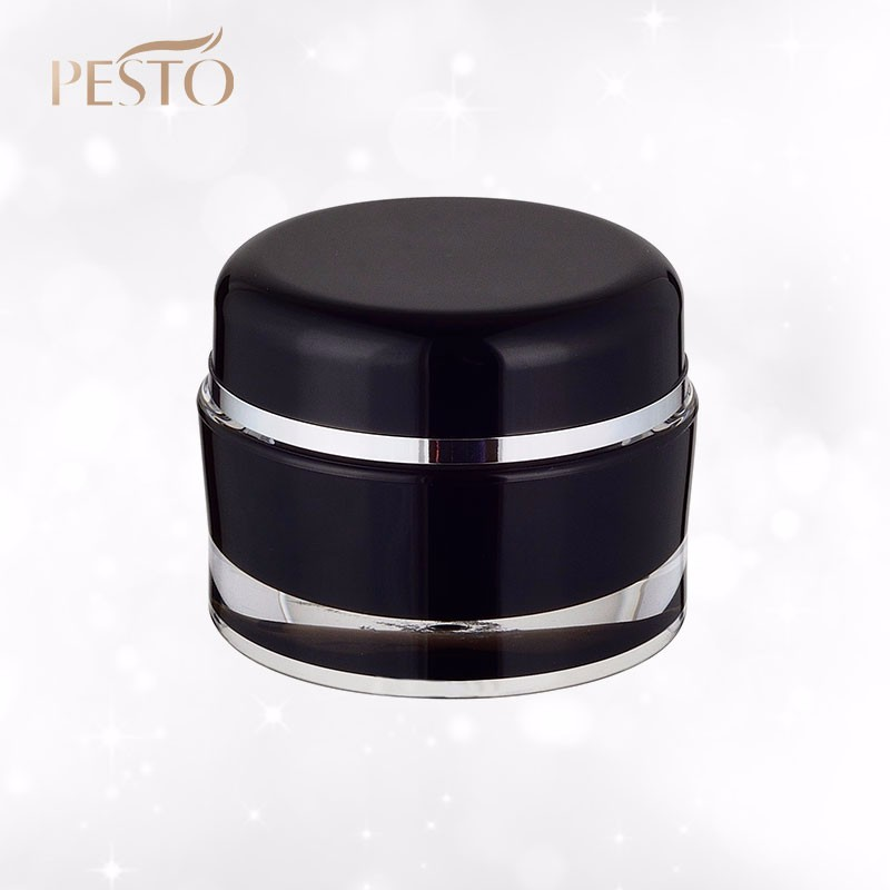 Wholesale bulk plastic acrylic cream jar containers for cosmetics