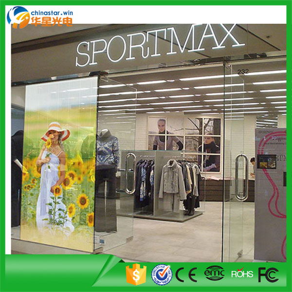 P5 500x1000mm Transparent Glass Led Display Window Wall Animation Display
