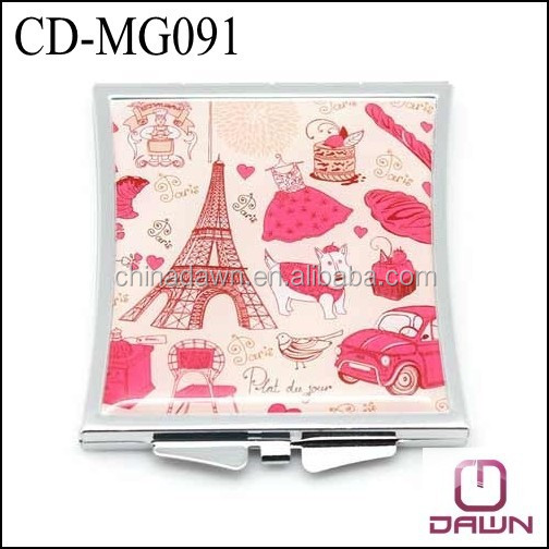 wholesale compact mirror with epoxy doming factory CD-MG091