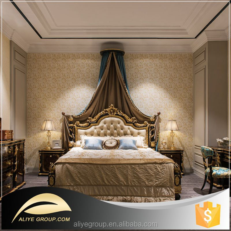 FB-101 gold gilded furniture of classic luxury bedroom furniture