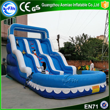 most popular item big waves inflatable water slide for pool