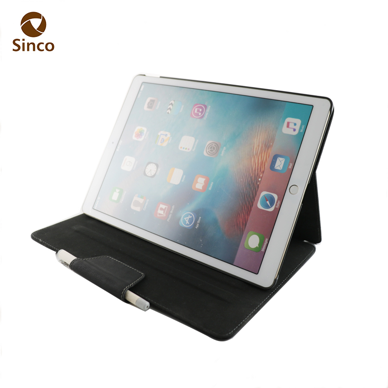 High quality flip wholesale shockproof pu leather tablet case cover for ipad 12.9