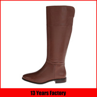 flat sole boots/leather riding boots/riding boot