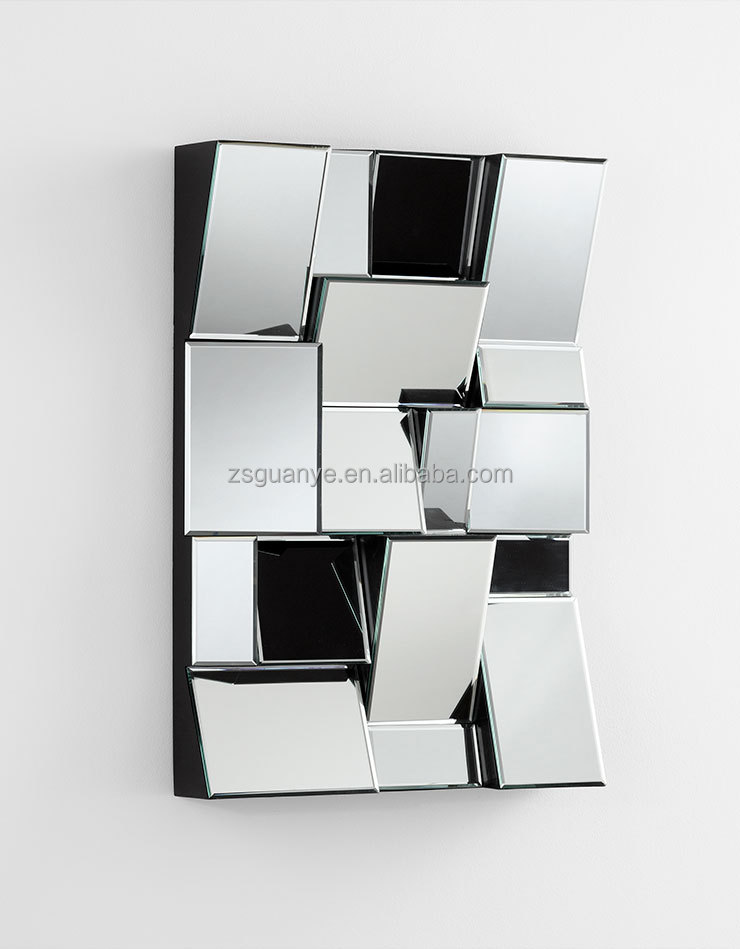 contemporary 3 d home decor mirror