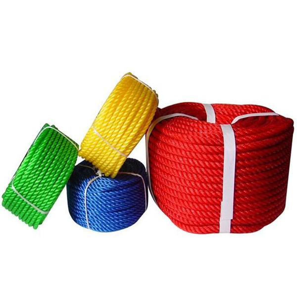 High strength polypropylene rope flat