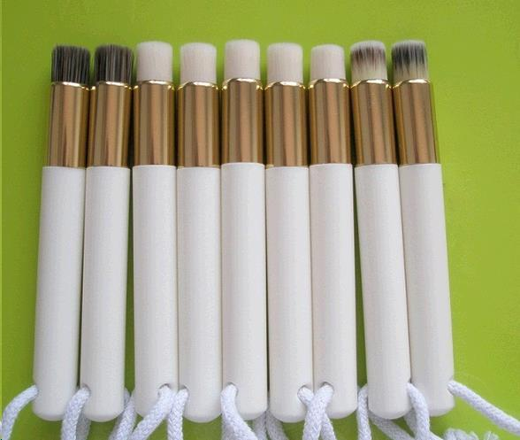 Free sample Nose Brush Makup brush with plastic brush holder