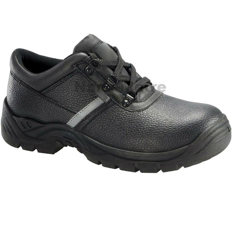 NMSAFETY Black cow leather safety shoes for men