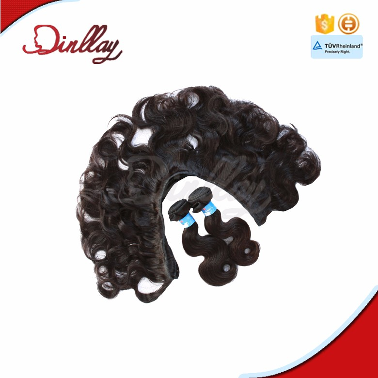 Nice looking with natural black color in stock short length body wave hair