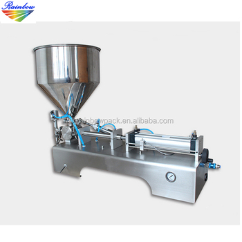 Semi automatic small tube toothpaste filling machine