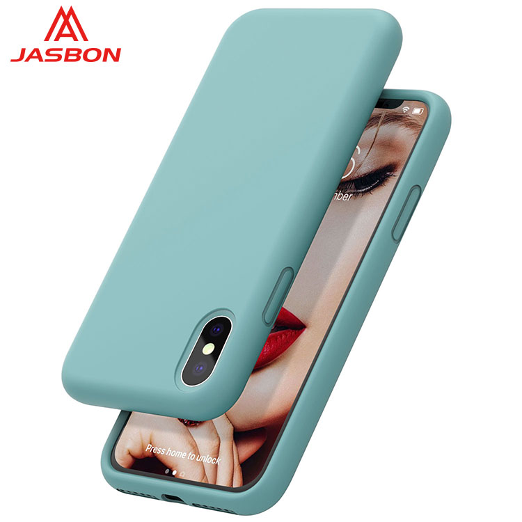 JASBON 2018 Light Blue thickened custom gel phone case silicone gel phone case for iphone X case for cell phone