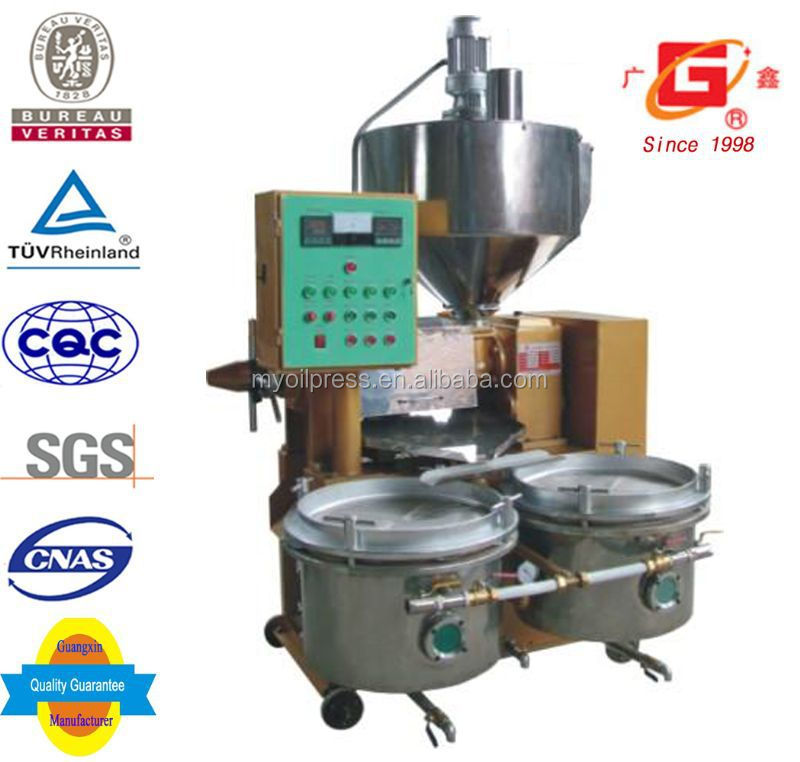 Auto filter and roster combined 0.8ton per day Corn Germ oil press machine
