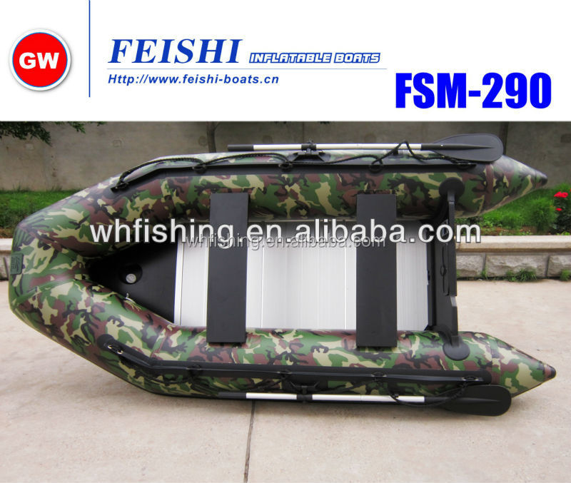 FSM PVC Inflatable Boat Outboard Motor