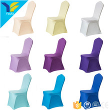 Universal wholesale cheap banquet chair covers stretch 100% polyester spandex chair cover wedding decoration