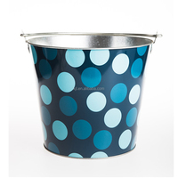 Printed tin ice bucket wholesale for bar