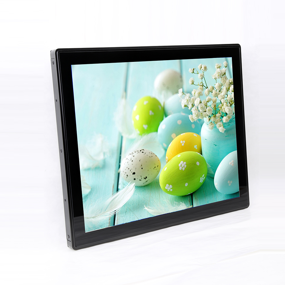 China factory 17 inch waterproof  resistive Monitor with Aluminium front case