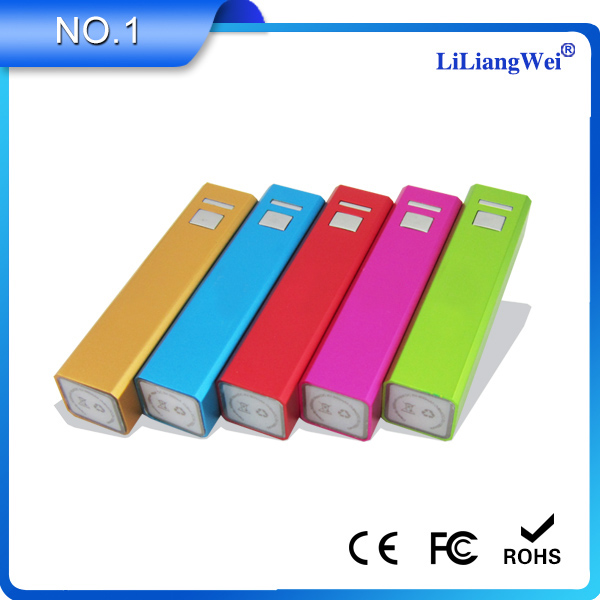 Hot new products for 2014 aluminum 2600mah portable power bank