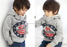 kids Hoodies cotton hoodies with fleece stock apparel for 2-6 years old