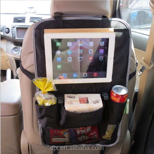 hot sale Hanging Car Back Seat Organizer with laptop holder