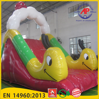 Small Cartoon Inflatable Water Slide for kids