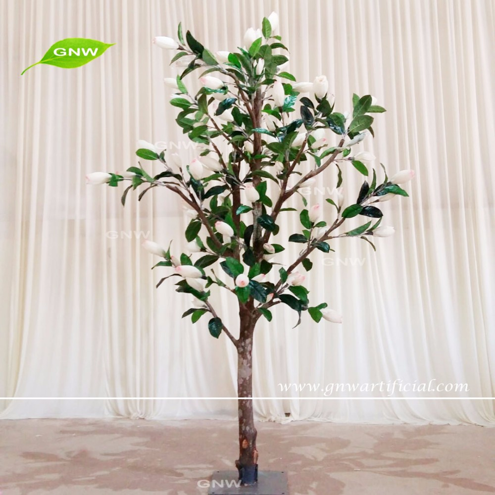 BLS1607007-MG GNW artificial plastic magnolia blossom bonsai tree for decoration