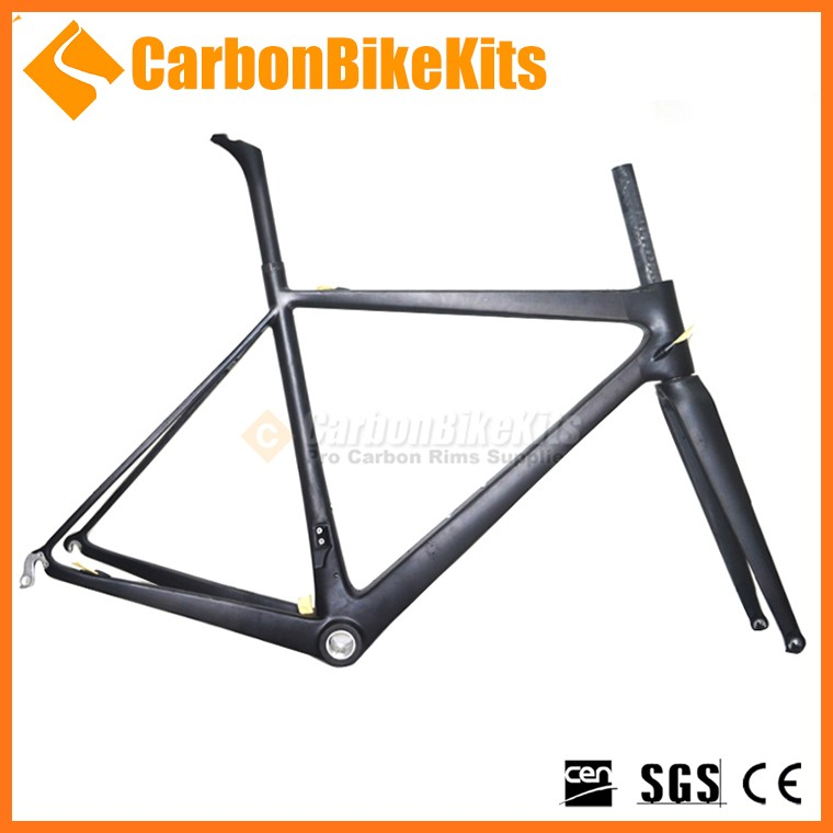 Wholesale price 3K/UD finished lightweight 700c road carbon bike frame CFM186