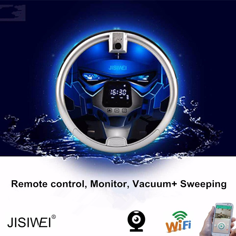 Pure Clean Smart Robot Vacuum Cleaner with wifi function and built-in Camera that controlled by mobile phone